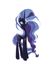 Size: 1288x1664 | Tagged: safe, artist:frozenightpl, nightmare rarity, pony, unicorn, evil, shiny, solo