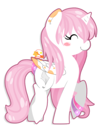 Size: 639x826 | Tagged: safe, artist:mochi--pon, oc, oc only, alicorn, pony, alicorn oc, eyes closed, solo