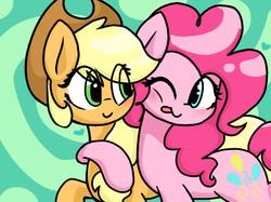 Size: 789x591   Tagged: safe, artist:toridesori, applejack, pinkie pie, applepie, cute, diapinkes, female, hug, jackabetes, lesbian, shipping