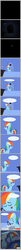 Size: 586x6824 | Tagged: safe, artist:zacatron94, rainbow dash, bed, cargo ship, comic, d:, dream, hug, kitchen sink, on back, pointy ponies, rainbowsink, screaming, shipping, smiling