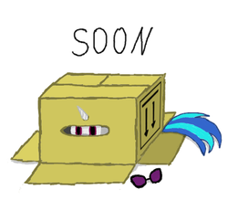 Size: 505x466 | Tagged: artist:synch-anon, box, dj pon-3, safe, solo, soon, vinyl scratch