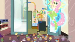 Size: 612x344 | Tagged: safe, screencap, fluttershy, equestria girls, rainbow rocks, ponied up, science