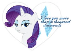 Size: 8069x5846 | Tagged: absurd res, artist:jennieoo, cutie mark, heart, hearts and hooves day, rarity, safe, simple background, solo, transparent background, valentine, valentine's day, vector