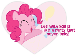 Size: 7981x5785 | Tagged: absurd res, artist:jennieoo, cutie mark, eyes closed, heart, hearts and hooves day, open mouth, pinkie pie, safe, solo, valentine, valentine's day