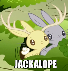 Size: 657x691 | Tagged: safe, screencap, jackalope, rabbit, filli vanilli, animal, burrow, carrot, duo, image macro, meme