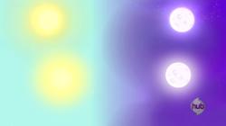 Size: 1280x717 | Tagged: safe, artist:cheezedoodle96, princess twilight sparkle (episode), .svg available, moon, split sky, sun, svg, tatooine, vector