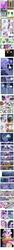 Size: 793x14586 | Tagged: safe, edit, edited screencap, screencap, applejack, fluttershy, pinkie pie, princess cadance, princess celestia, queen chrysalis, rainbow dash, rarity, shining armor, spike, twilight sparkle, a canterlot wedding, clothes, comic, crystal caverns, disguise, disguised changeling, dress, fake cadance, mane seven, mane six, marriage, messy mane, mind control, minecart, scratches, screencap comic, speech bubble, this day aria, wedding, wedding dress