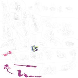 Size: 10000x10000   Tagged: safe, artist:noctulov, berry punch, berryshine, cheerilee, daring do, derpy hooves, lightning dust, pinkie pie, princess cadance, princess luna, rainbow dash, spitfire, trixie, twilight sparkle, pegasus, pony, absurd resolution, bondage, cartoon physics, dialogue, faceful of ass, facesitting, female, flat, flattened, hypnosis, mare, monochrome, sitting, sketch dump, tentacle bondage, tentacle porn, tentacles