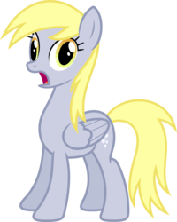 Size: 5000x6237 | Tagged: safe, artist:xpesifeindx, derpy hooves, pegasus, pony, rainbow falls, .svg available, absurd resolution, derp, female, gasp, mare, simple background, solo, transparent background, vector