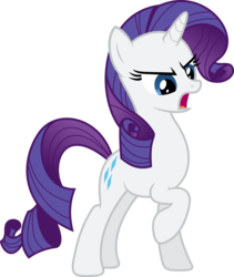 Size: 5000x5912 | Tagged: safe, artist:xpesifeindx, rarity, .svg available, absurd resolution, angry, female, simple background, solo, transparent background, vector