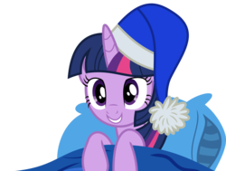 Size: 5453x4133 | Tagged: absurd res, alicorn, artist:synch-anon, artist:twiforce, female, hat, mare, nightcap, pillow, pony, safe, simple background, smiling, solo, transparent background, twilight sparkle, twilight sparkle (alicorn), vector