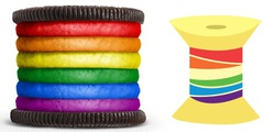 Size: 625x300 | Tagged: barely pony related, comparison, look-alike, oreo, rainbow power, rainbow thread, safe