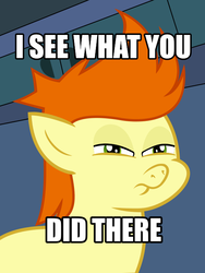 Size: 528x704 | Tagged: safe, artist:cheezedoodle96, gallop j. fry, pony, .svg available, crossover, futurama, i see what you did there, meme, reaction image, solo, vector