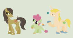 Size: 1163x609 | Tagged: artist:strawberry-spritz, dracony, hybrid, offspring, parent:applejack, parent:cheese sandwich, parent:prince blueblood, parent:queen chrysalis, parents:bluejack, parent:spike, parent:twist, safe