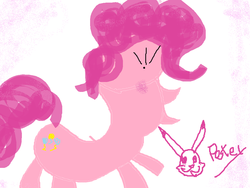 Size: 960x720 | Tagged: artist:pikapetey, mouse drawing, ms paint, pinkie pie, safe, solo