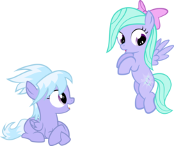 Size: 1280x1069 | Tagged: safe, artist:the smiling pony, cloudchaser, flitter, :o, cutie mark, filly, flying, open mouth, prone, simple background, smiling, spread wings, transparent background, younger