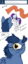 Size: 680x1560 | Tagged: safe, artist:moonblizzard, blues, cyclops pony, noteworthy, rarity, cyclops, ask, donny swineclop, rarity answers, tumblr