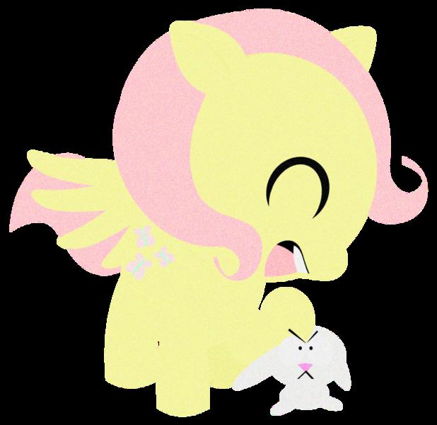 573297 Angel Bunny Artist Toonfreak Fluttershy Safe South Park Style Emulation Derpibooru