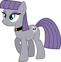 Size: 2800x2881 | Tagged: safe, artist:cheezedoodle96, maud pie, earth pony, pony, maud pie (episode), choker, female, goth, mare, simple background, skull, solo, speculation, svg, transparent background, wrong cutie mark