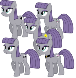 Size: 2000x2058 | Tagged: safe, artist:cheezedoodle96, maud pie, pony, maud pie (episode), .svg available, choker, cutie mark, female, mare, multeity, neutral, simple background, skull, solo, speculation, svg, transparent background, wrong cutie mark, yin-yang