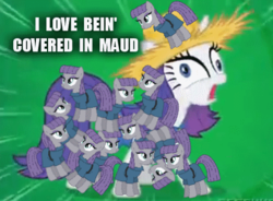 Size: 471x346 | Tagged: artist:crowley, caption, clothes, covered, derp, dialogue, edit, edited screencap, english, equine pyramid, faic, hat, i love being covered in mud, maud pie, maud pie (episode), mud, multeity, pony pyramid, pun, rarihick, rarimaud, rarity, safe, scene parody, screaming, screencap, shipping, simple ways, straw hat, visual pun, wat