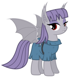 Size: 5400x6000 | Tagged: absurd res, artist:magister39, bat ponified, bat pony, maudbat, maud pie, maud pie (episode), pony, race swap, safe, simple background, solo, transparent background, vector