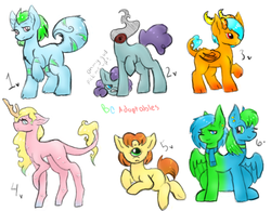 Size: 722x562 | Tagged: safe, artist:bunnycat, cyclops pony, oc, cyclops, dracony, dragon, dullahan, headless horse, monster pony, adoptable, clothes, conjoined, conjoined twins, headless, modular, monster, monster mare, multiple heads, scarf, tailmouth, two heads