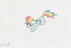 Size: 1194x813 | Tagged: artist:nightfly19, rainbow dash, safe, solo, traditional art