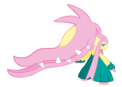 Size: 4256x3034 | Tagged: safe, artist:fou-mage, fluttershy, mawile, absurd resolution, crossover, pokefied, pokémon, simple background, solo, species swap, transparent background, vector
