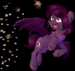 Size: 520x490   Tagged: safe, artist:anjevalart, oc, oc only, bat pony, moth, pony, solo