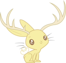 Size: 6261x6000 | Tagged: safe, artist:decimix, jackalope, absurd resolution, animal, antlers, simple background, solo, transparent background, vector