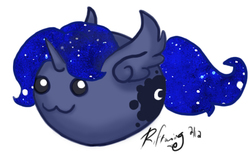 Size: 483x307   Tagged: safe, artist:isaunter, princess luna, blob, female, simple background, solo