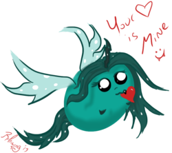 Size: 651x578   Tagged: safe, artist:isaunter, queen chrysalis, blob, female, solo
