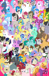 Size: 719x1111 | Tagged: safe, artist:littlemissvi, ace, aloe, alula, apple fritter, berry punch, berryshine, bon bon, bulk biceps, caesar, caramel, carrot top, cherry jubilee, cloudchaser, daring do, derpy hooves, dj pon-3, dumbbell, fancypants, fleur-de-lis, flitter, golden harvest, hoops, jet set, lemon hearts, lily, lily valley, lotus blossom, lyra heartstrings, lyrica lilac, mayor mare, minuette, mr. zippy, ms. harshwhinny, nurse redheart, octavia melody, parasol, photo finish, pokey pierce, powder rouge, quarterback, raven, roma, royal ribbon, savoir fare, screwball, spitfire, spring melody, sprinkle medley, surf, sweetie drops, thunderlane, turf, uncle curio, upper crust, vinyl scratch, wild fire, oc, oc:fluffle puff, pegasus, pony, apple family member, female, horte cuisine, mare, score, spa twins