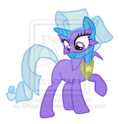 Size: 400x417   Tagged: dead source, safe, artist:offical-lunaflaire, radiance, trixie, pony, unicorn, clothes, costume, female, mare, obtrusive watermark, power ponies, solo, watermark
