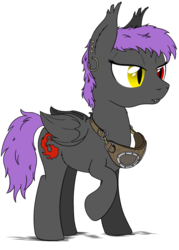 Size: 1000x1400   Tagged: safe, artist:stinkehund, oc, oc only, bat pony, pony, earring, fluffy, goggles, heterochromia, piercing, solo