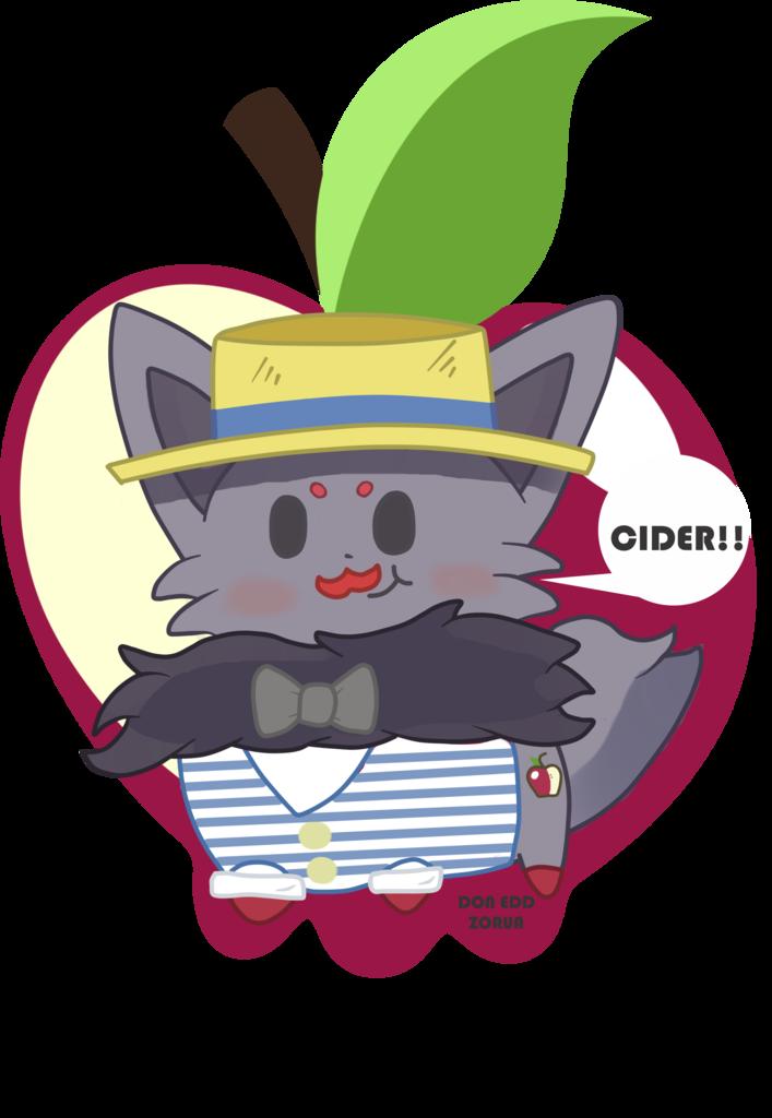 587060 apple artist doneddzorua chibi cider cute flam
