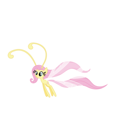 Size: 6500x6000 | Tagged: safe, artist:midnight--blitz, fluttershy, breezie, it ain't easy being breezies, .ai available, absurd resolution, breeziefied, female, flutterbreez, simple background, solo, species swap, transparent background, vector
