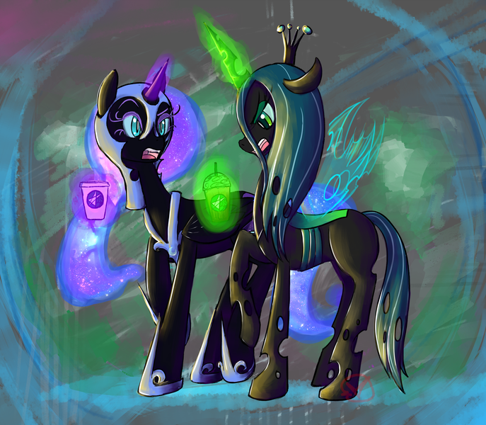 My little pony queen chrysalis and nightmare moon