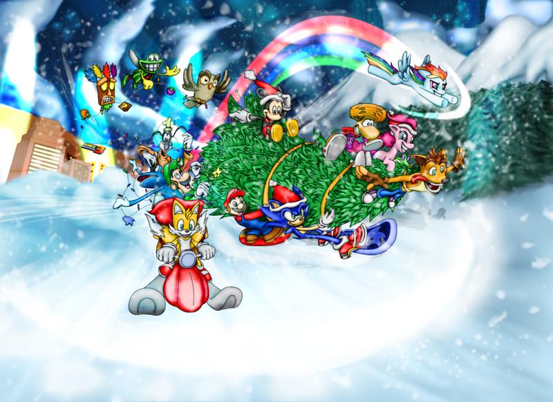 Crash Bandicoot Christmas.567384 2014 Aku Aku Artist Twisterth Christmas Crash