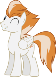 Size: 4361x6000   Tagged: safe, artist:chainchomp2, fire streak, pegasus, pony, absurd resolution, male, simple background, solo, stallion, transparent background, vector, wink, wonderbolts
