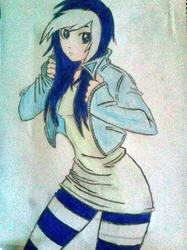 Size: 764x1024   Tagged: safe, artist:brashcandicoote, minuette, human, female, humanized, solo, toothpaste