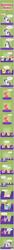 Size: 586x10494 | Tagged: safe, artist:zacatron94, applejack, big macintosh, fluttershy, pinkie pie, rainbow dash, rarity, twilight sparkle, alicorn, pony, equestria's stories, female, magic, mane six, mare, microphone, pointy ponies, reading, sleeping, twilight sparkle (alicorn)