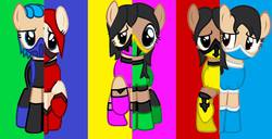 Size: 960x493 | Tagged: safe, artist:earthbouds, base used, crossover, frost, jade, kitana, mileena, mortal kombat, ponified, skarlet, tanya, what my cutie mark is telling me