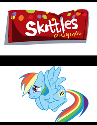 Size: 900x1165 | Tagged: safe, artist:deerhooves, rainbow dash, implied grimdark, skittles, taste the rainbow