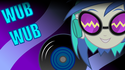 Size: 8000x4487 | Tagged: safe, artist:sir-teutonic-knight, dj pon-3, vinyl scratch, equestria girls, music to my ears, rainbow rocks, absurd resolution, female, portrait, record, solo, vector, wallpaper