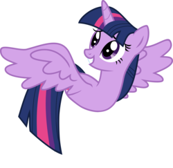 Size: 4000x3895 | Tagged: safe, twilight sparkle, alicorn, duck pony, pony, worm, female, grin, looking up, mare, simple background, smiling, solo, species swap, spread wings, squee, transparent background, twilight sparkle (alicorn), twiworm, vector, wat