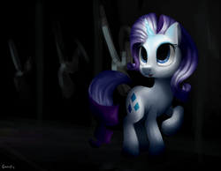 Size: 3600x2800 | Tagged: safe, artist:tivy, rarity, pony, unicorn, dark genitals, female, glowing horn, horn, mare, nudity, raised hoof, signature, solo