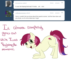 Size: 750x640 | Tagged: safe, roseluck, ask, rosereplies, solo, tumblr