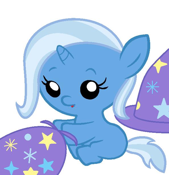 Trixie Baby 609692 - artist:beavernator, baby, baby pony, cape, clothes, cute